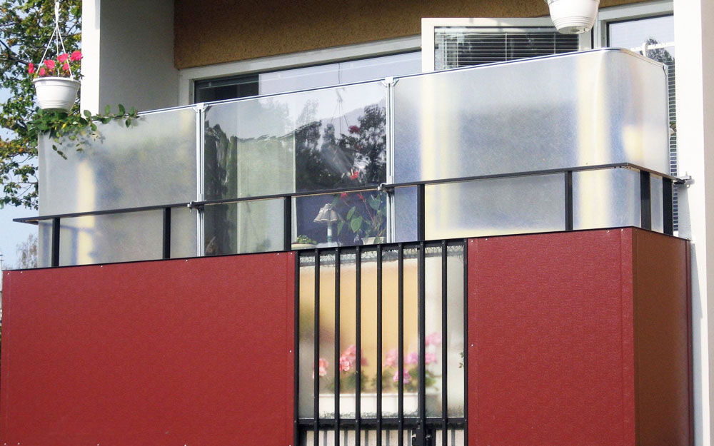 skydd till balkongen