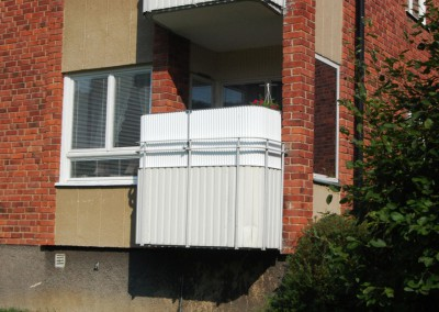 balkongskydd korrugerad
